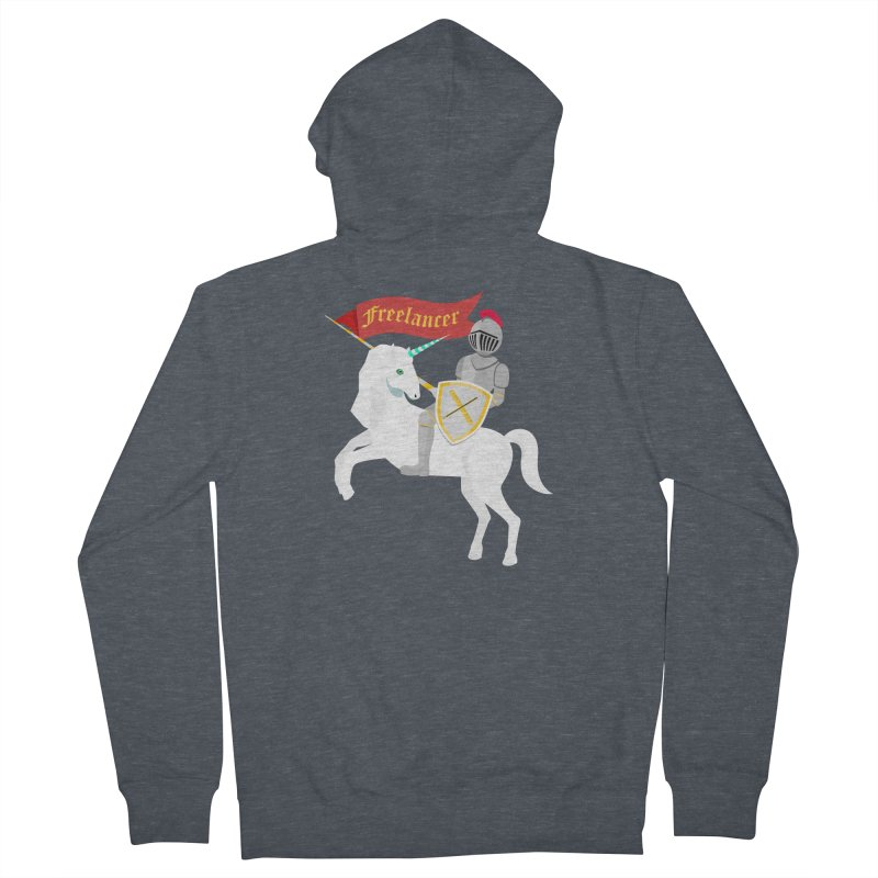 The Freelancer Men's French Terry Zip-Up Hoody by mintosaur's Artist Shop