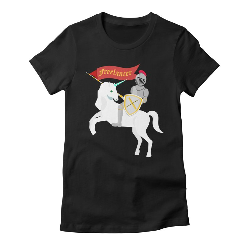 The Freelancer Women's Fitted T-Shirt by mintosaur's Artist Shop