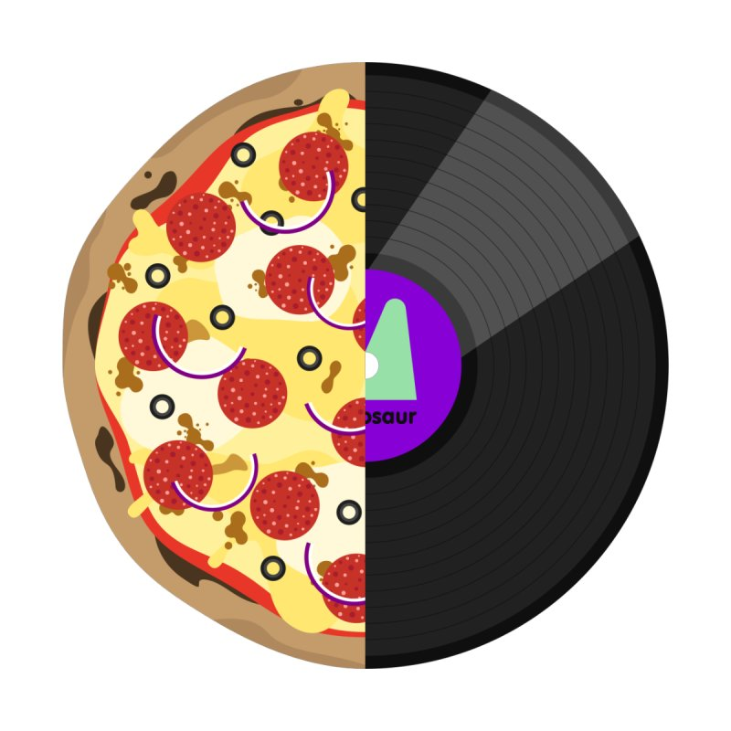 Pizza Record by mintosaur's Artist Shop