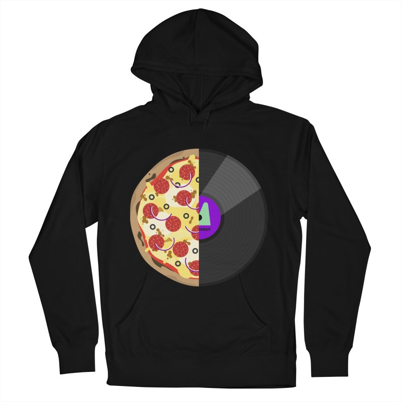 Pizza Record Women's French Terry Pullover Hoody by mintosaur's Artist Shop