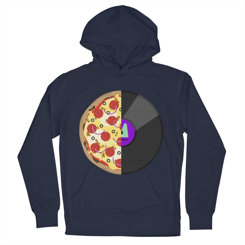 Pizza Record Women's Pullover Hoody by mintosaur's Artist Shop