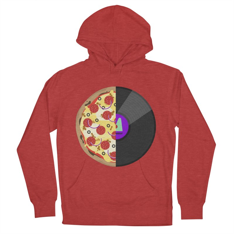 Pizza Record Men's French Terry Pullover Hoody by mintosaur's Artist Shop