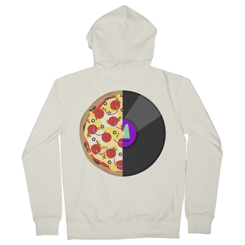 Pizza Record Women's Zip-Up Hoody by mintosaur's Artist Shop