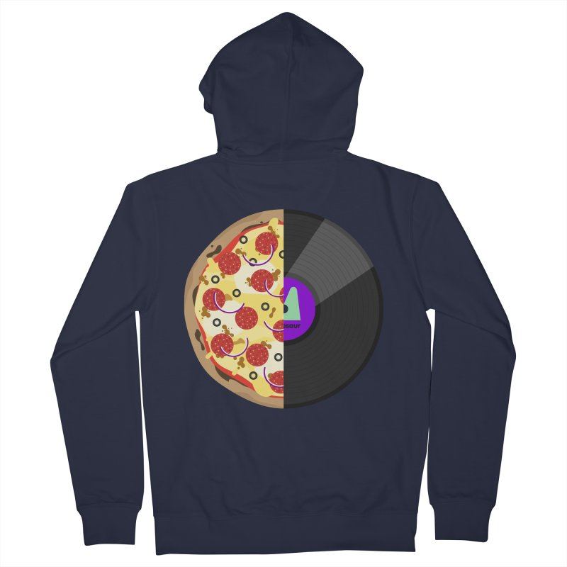 Pizza Record Women's French Terry Zip-Up Hoody by mintosaur's Artist Shop