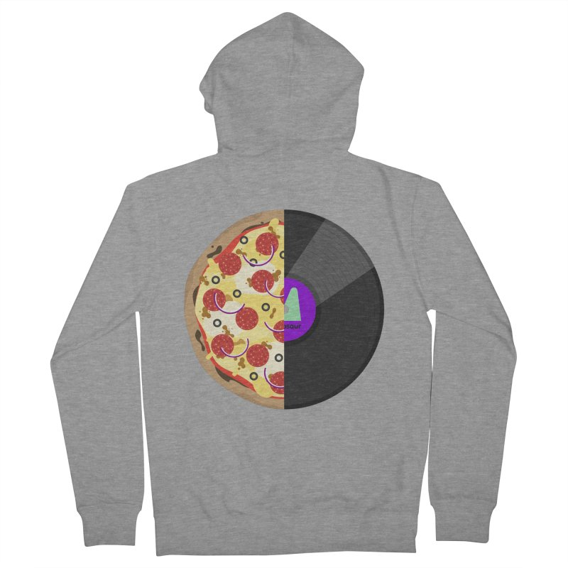 Pizza Record Men's Zip-Up Hoody by mintosaur's Artist Shop
