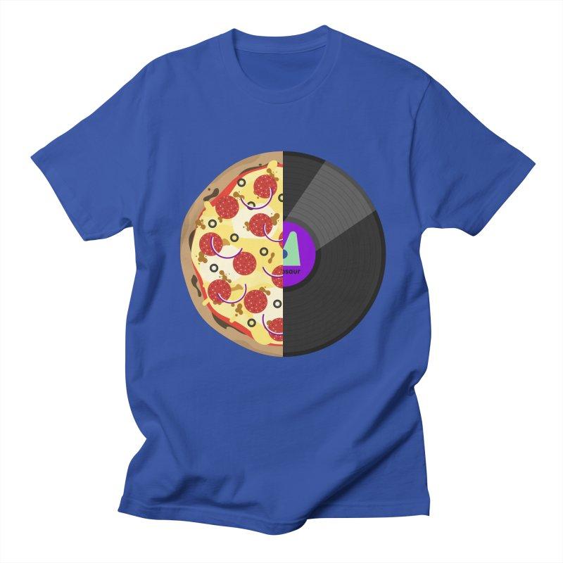 Pizza Record Men's Regular T-Shirt by mintosaur's Artist Shop