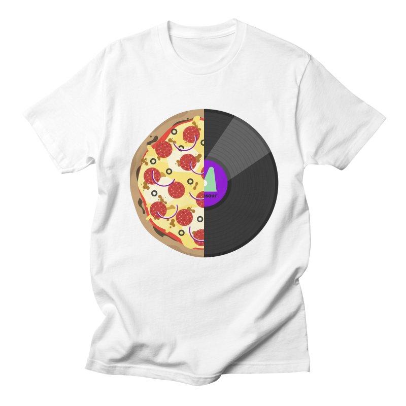 Pizza Record Men's T-Shirt by mintosaur's Artist Shop