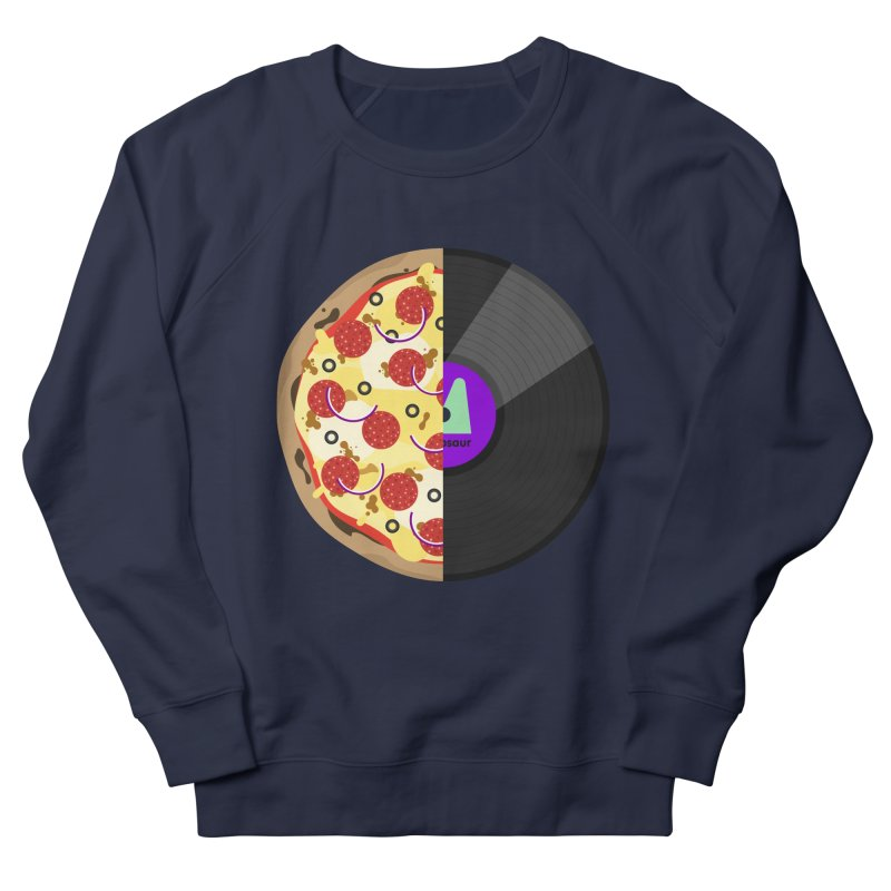 Pizza Record Women's French Terry Sweatshirt by mintosaur's Artist Shop