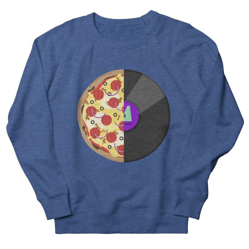 Pizza Record Men's French Terry Sweatshirt by mintosaur's Artist Shop