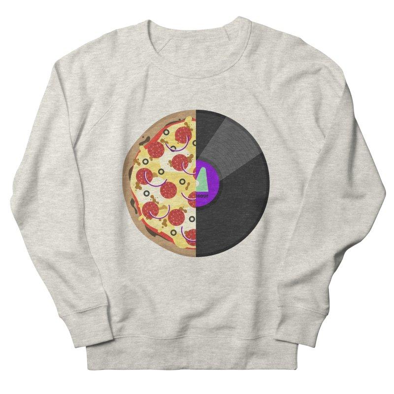 Pizza Record Men's Sweatshirt by mintosaur's Artist Shop