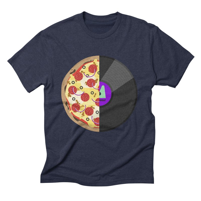 Pizza Record Men's Triblend T-Shirt by mintosaur's Artist Shop