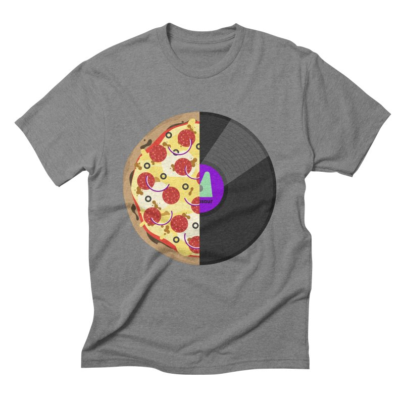Pizza Record Men's Triblend T-Shirt by mintosaur's Artist Shop