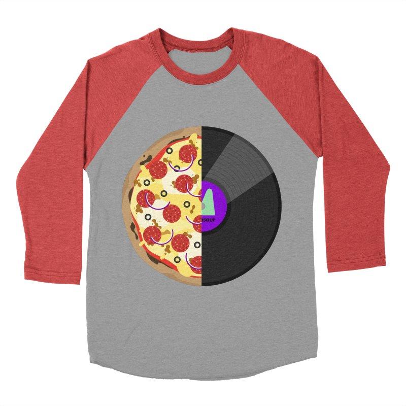 Pizza Record Women's Baseball Triblend T-Shirt by mintosaur's Artist Shop