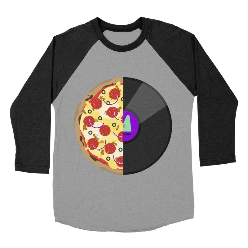 Pizza Record Women's Baseball Triblend Longsleeve T-Shirt by mintosaur's Artist Shop