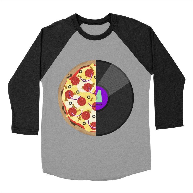 Pizza Record Men's Baseball Triblend T-Shirt by mintosaur's Artist Shop