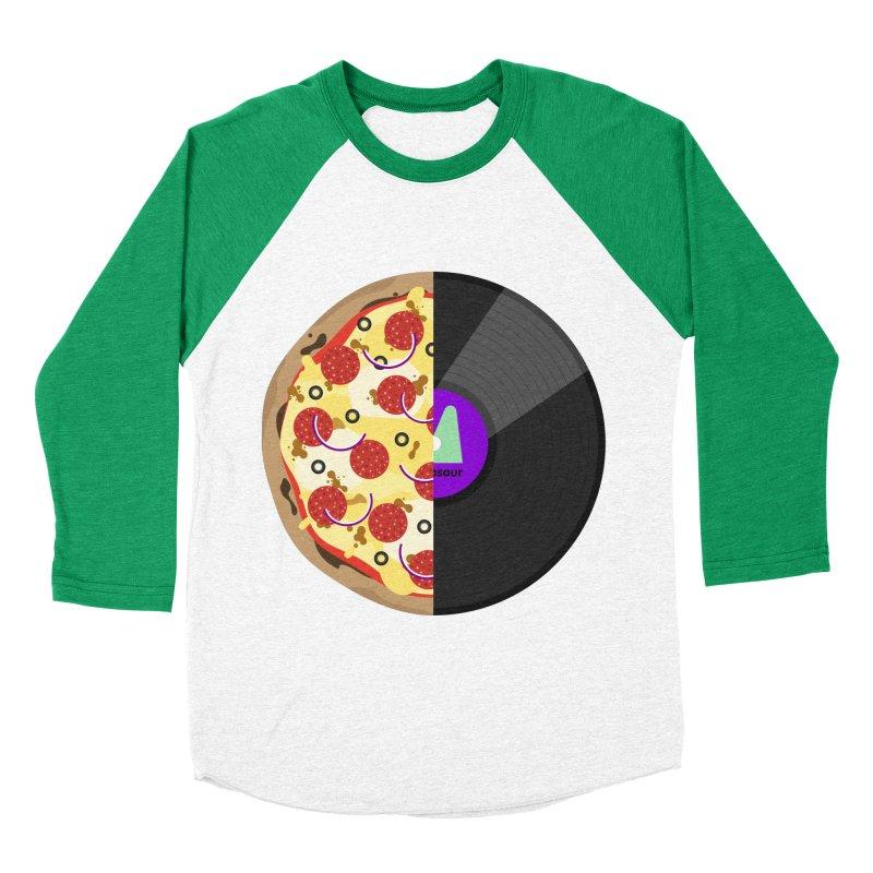 Pizza Record Men's Baseball Triblend Longsleeve T-Shirt by mintosaur's Artist Shop