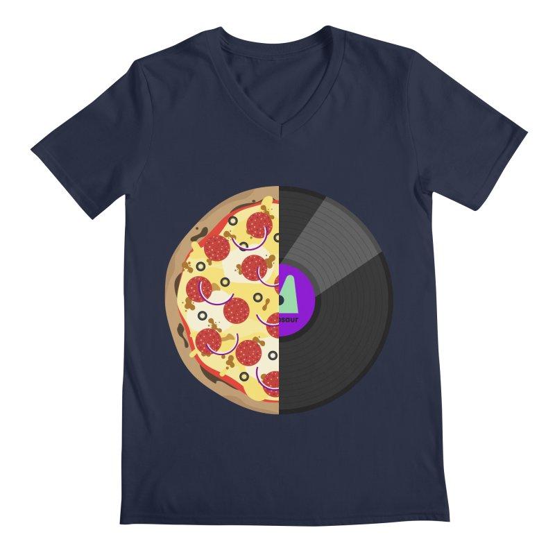 Pizza Record Men's V-Neck by mintosaur's Artist Shop