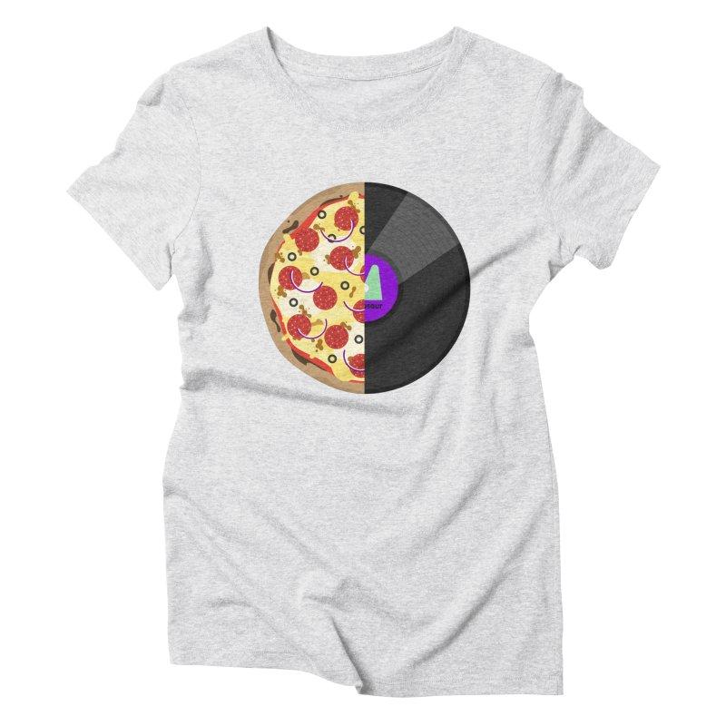 Pizza Record Women's Triblend T-Shirt by mintosaur's Artist Shop