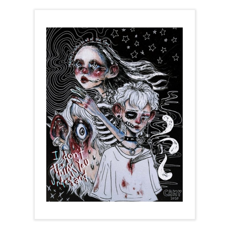 Mind Extract Home Fine Art Print by Minty.Cuts