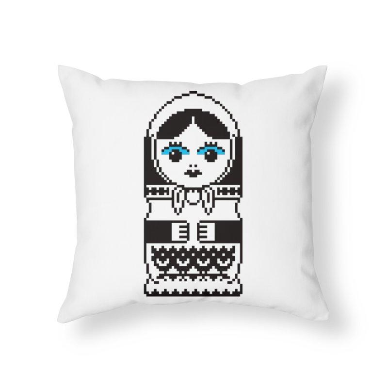 ~MATRYOSHKA.MKV Home Throw Pillow by minusbaby