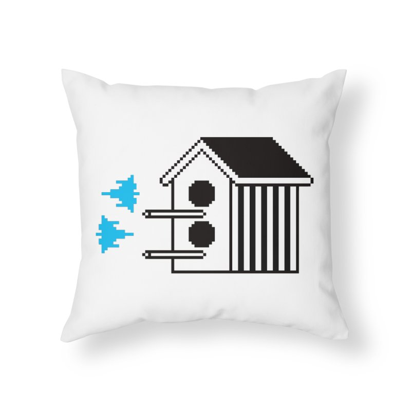 Birdhouse Home Throw Pillow by minusbaby