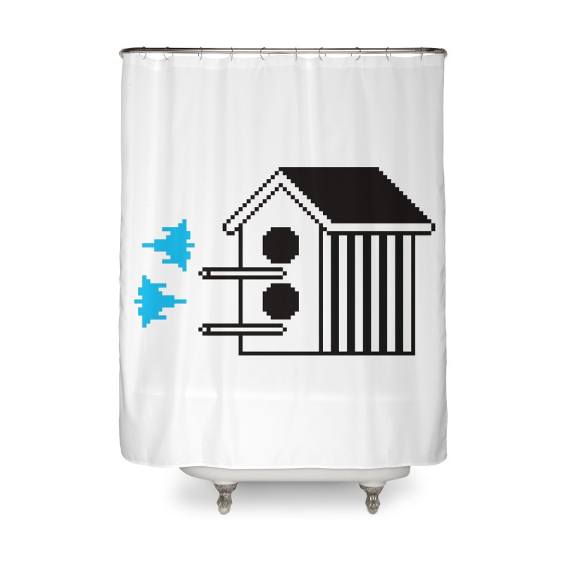 Birdhouse Home Shower Curtain by minusbaby