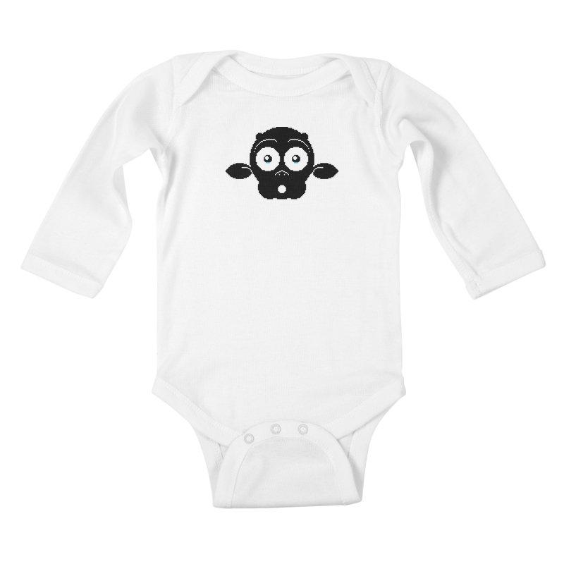 8-bit MAC* Kids Baby Longsleeve Bodysuit by minusbaby
