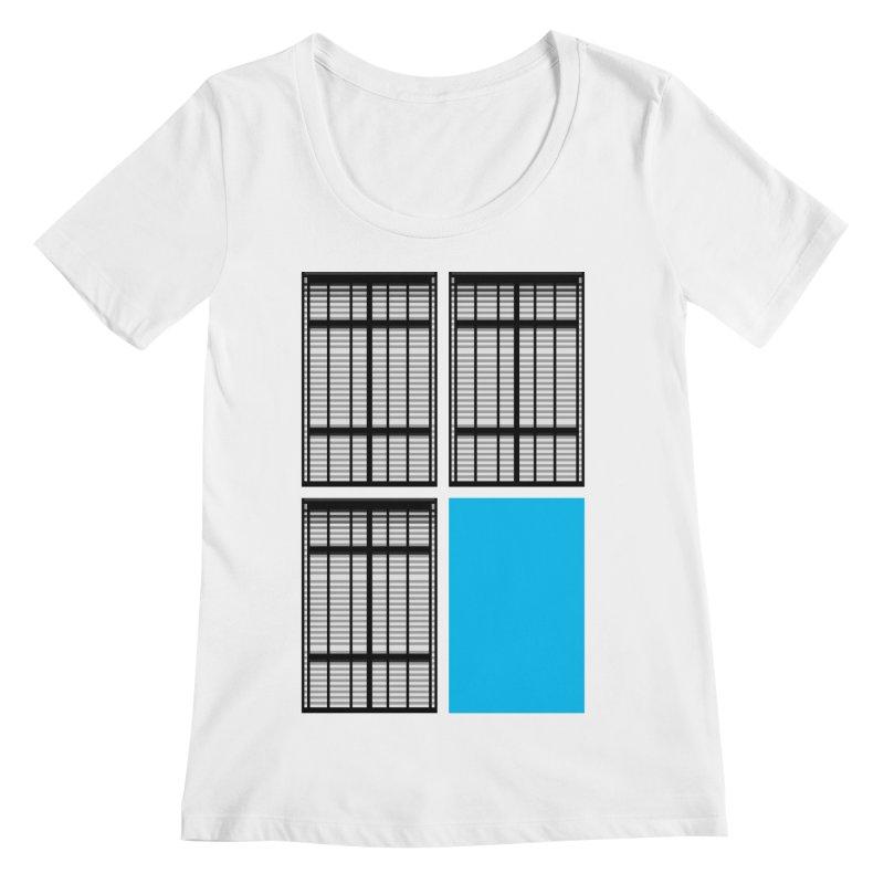 Windows/Gates/Blue Screen Women's Scoopneck by minusbaby