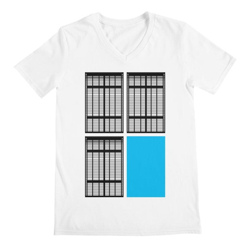 Windows/Gates/Blue Screen Men's Regular V-Neck by minusbaby