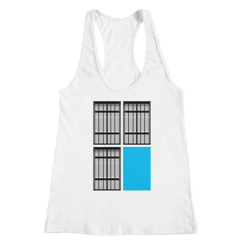 Windows/Gates/Blue Screen Women's Racerback Tank by minusbaby