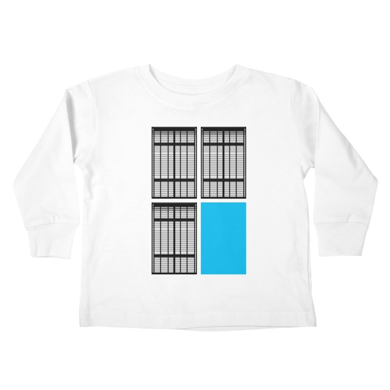 Windows/Gates/Blue Screen Kids Toddler Longsleeve T-Shirt by minusbaby