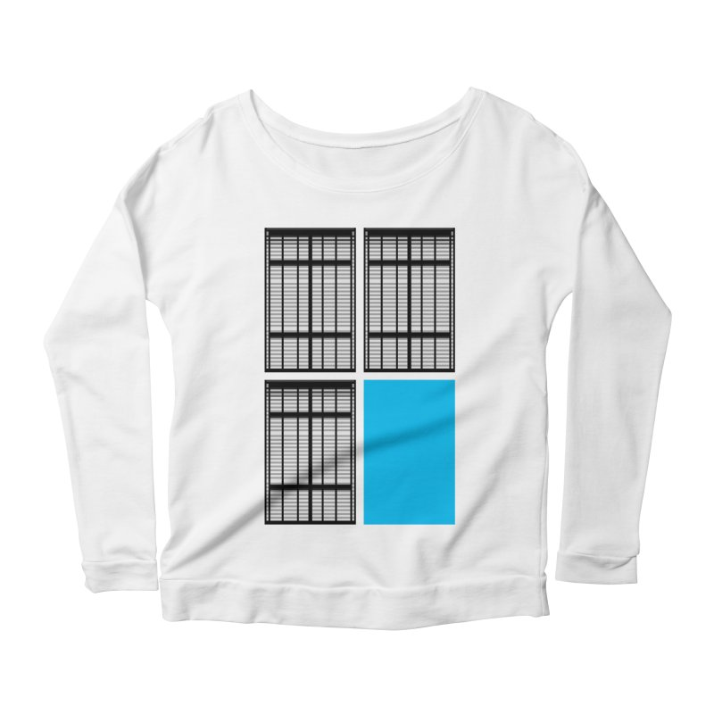 Windows/Gates/Blue Screen Women's Scoop Neck Longsleeve T-Shirt by minusbaby