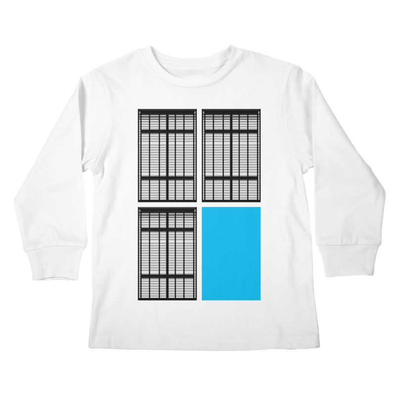 Windows/Gates/Blue Screen Kids Longsleeve T-Shirt by minusbaby