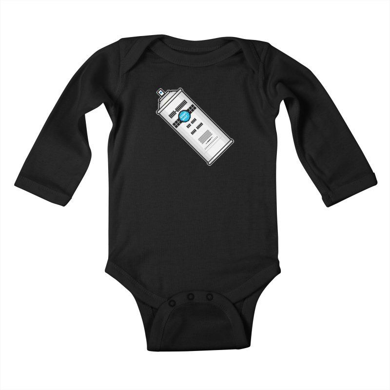 Shake, Rattle and GTFO Kids Baby Longsleeve Bodysuit by minusbaby