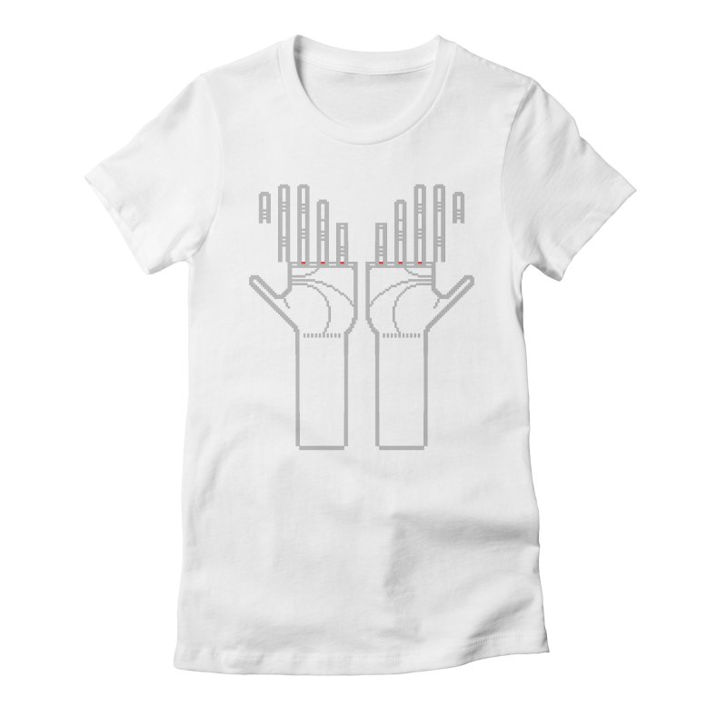 Hands (Mano a Mão) [Nullsleep Limited Edition] Women's Fitted T-Shirt by minusbaby