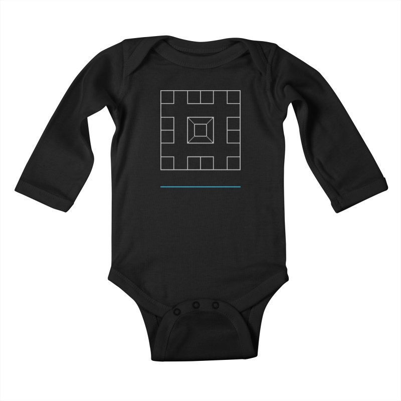 Games People Play: Skellzies,  Nº 1 Kids Baby Longsleeve Bodysuit by minusbaby