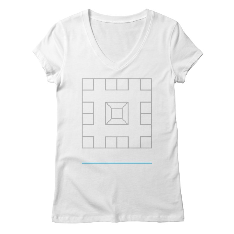 Games People Play: Skellzies,  Nº 1 Women's V-Neck by minusbaby