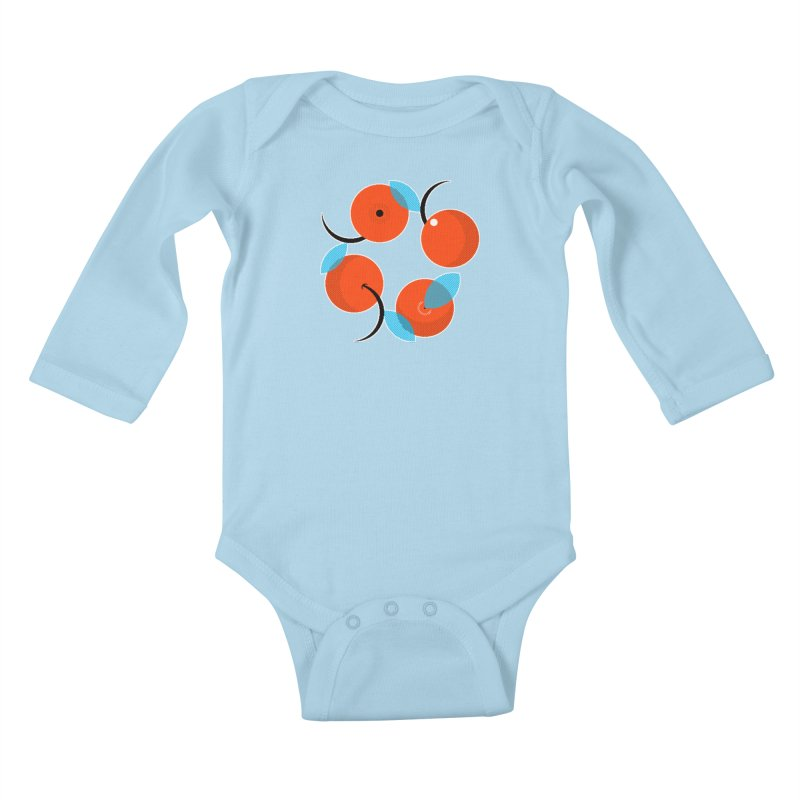 Manda Mandarinas [Limited Edition Abuelita Version] Kids Baby Longsleeve Bodysuit by minusbaby