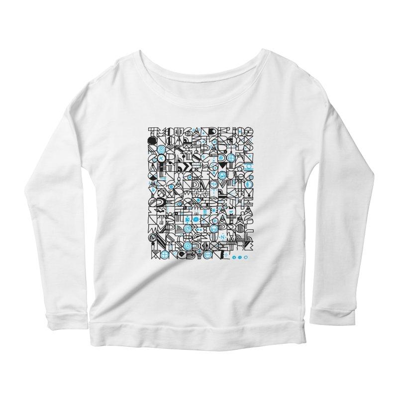 F–4000 Women's Scoop Neck Longsleeve T-Shirt by minusbaby