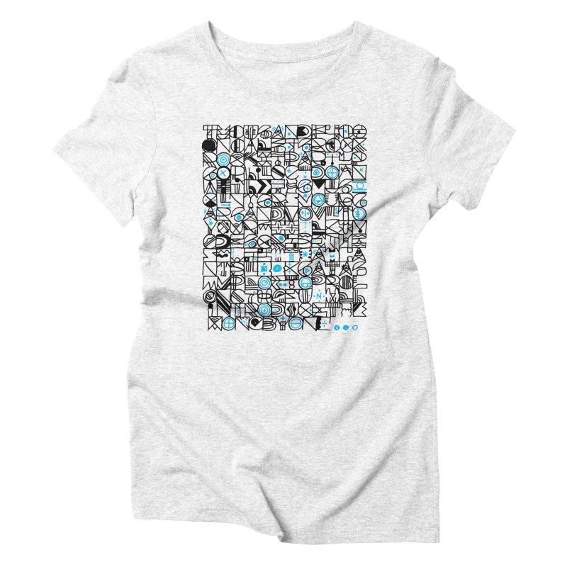 F–4000 Women's Triblend T-shirt by minusbaby