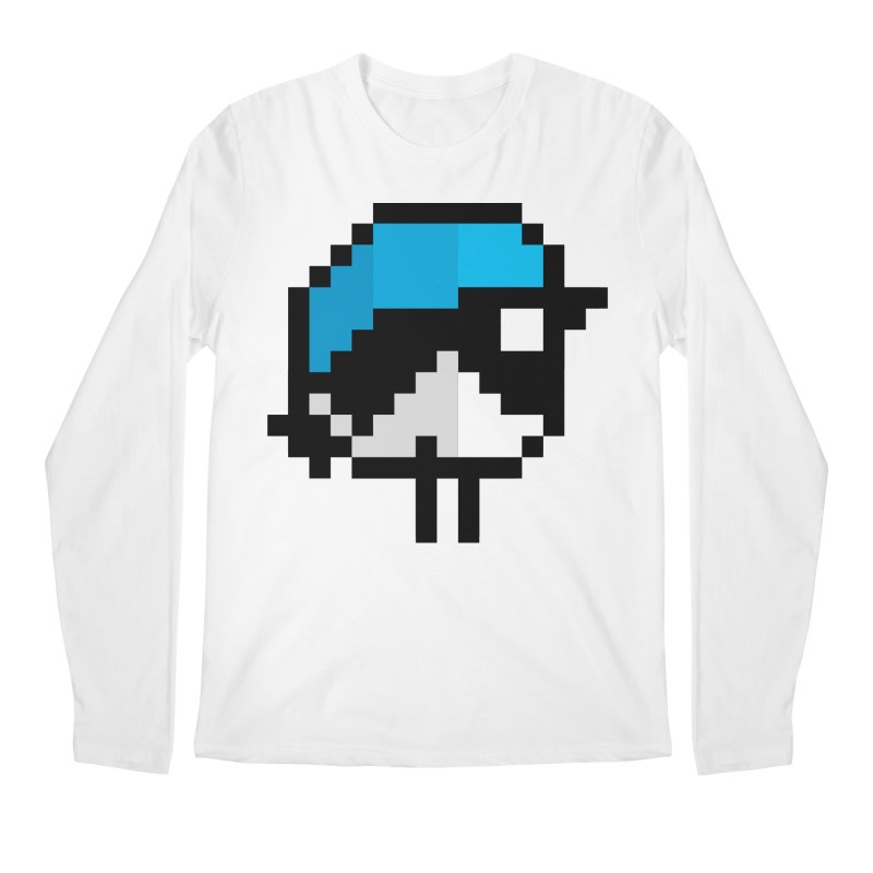 Black-throated Blue Warbler [8-bit Version] Men's Regular Longsleeve T-Shirt by minusbaby