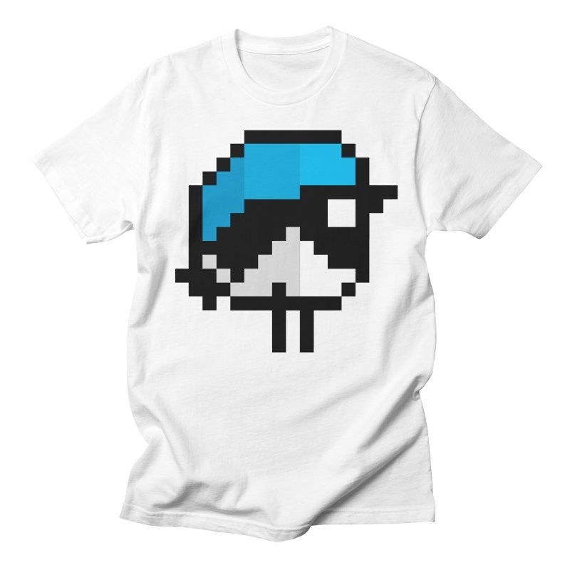 Black-throated Blue Warbler [8-bit Version] Men's Regular T-Shirt by minusbaby