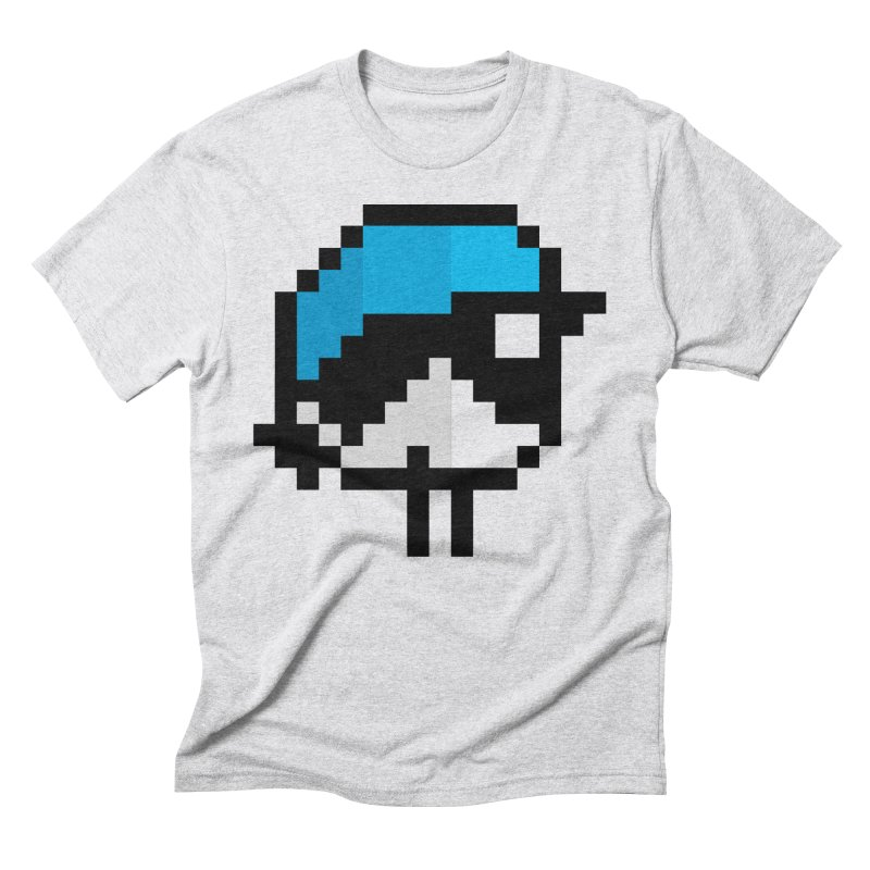Black-throated Blue Warbler [8-bit Version] Men's Triblend T-Shirt by minusbaby