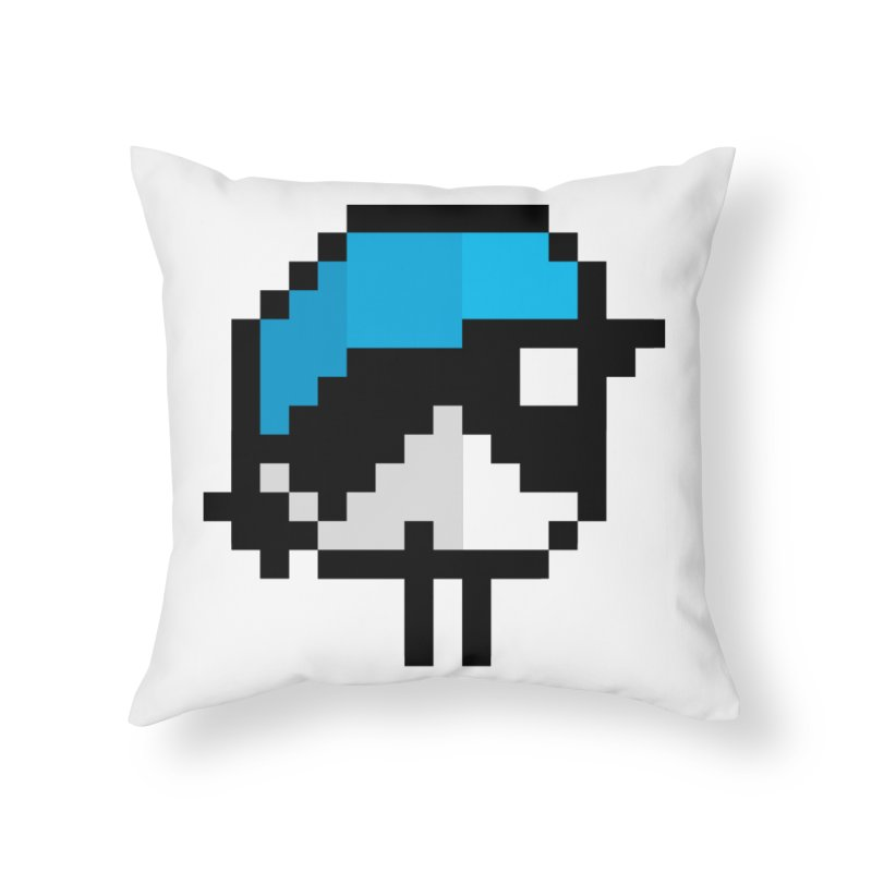 Black-throated Blue Warbler [8-bit Version] Home Throw Pillow by minusbaby