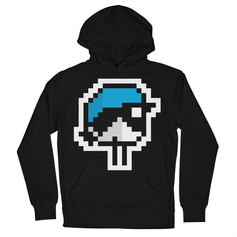 Black-throated Blue Warbler [8-bit Version] Men's Pullover Hoody by minusbaby