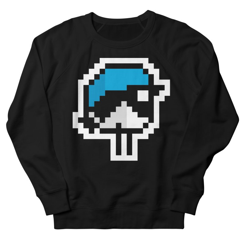 Black-throated Blue Warbler [8-bit Version] Women's French Terry Sweatshirt by minusbaby