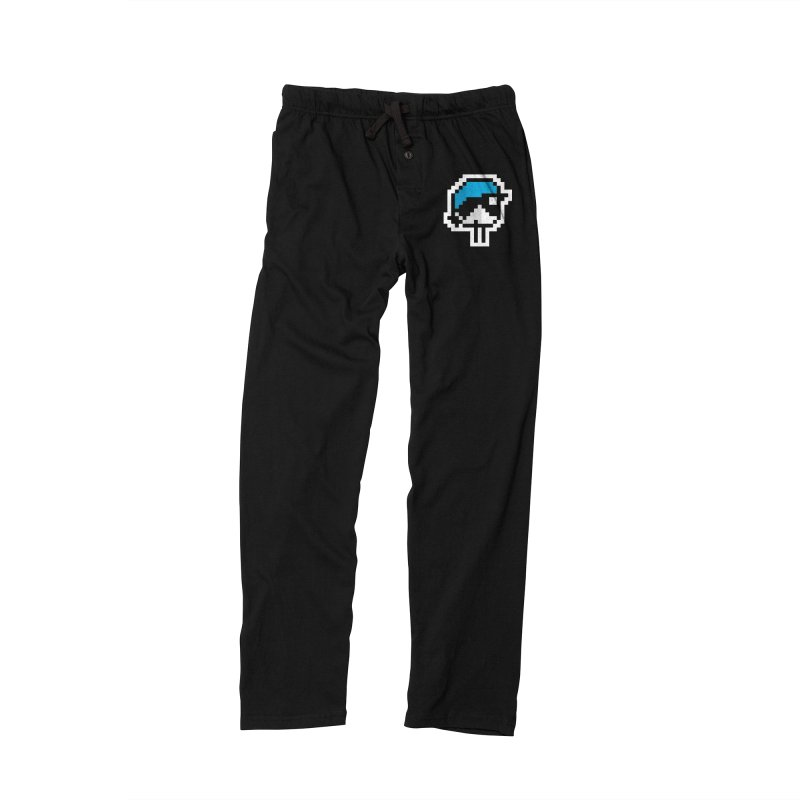 Black-throated Blue Warbler [8-bit Version] Men's Lounge Pants by minusbaby