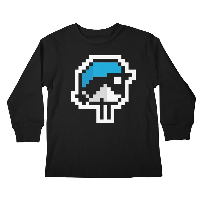 Black-throated Blue Warbler [8-bit Version] Kids Longsleeve T-Shirt by minusbaby