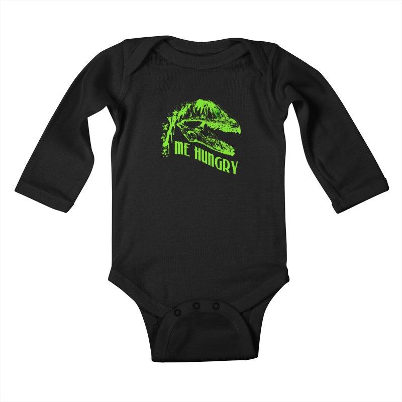Me hungy! Kids Baby Longsleeve Bodysuit by Mirabelle Digital Art shop
