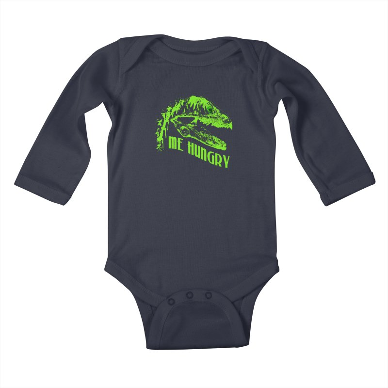 Me hungy! Kids Baby Longsleeve Bodysuit by Mirabelle Digital Art shop